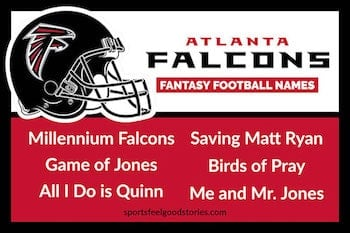 Falcons Fantasy Football names button