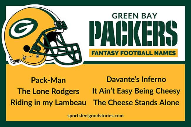 Fantasy football names for Packers image