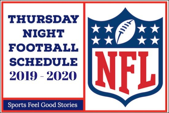 Printable One Page Nfl Schedule 2020.Thursday Night Football 2019 Schedule Nfl Sports Feel Good