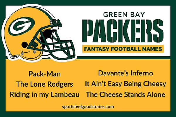 Packers fantasy football names image