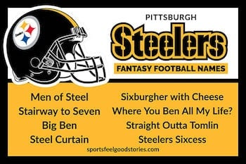 Pittsburgh Steelers Fantasy Football Team Names button