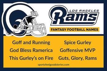 Rams fantasy football names funny