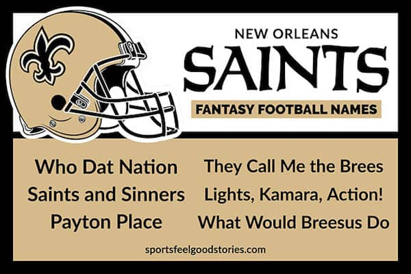 Saints Fantasy Football Names image