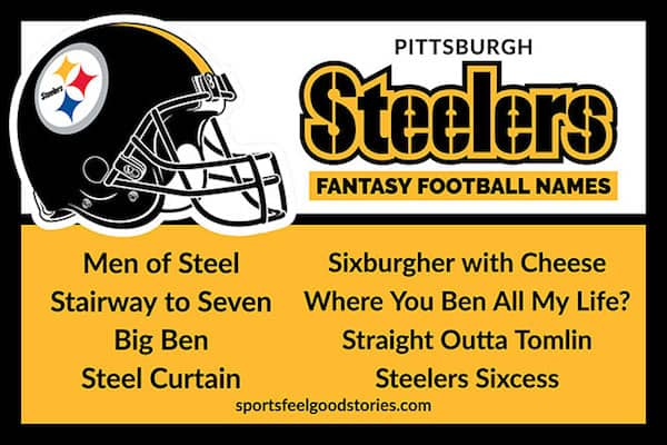 Pittsburgh Steelers Fantasy Football Names image