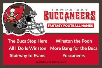 Tampa Bay Buccaneers Fantasy Football Team Names button
