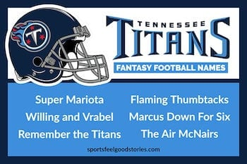 Tennessee Titans Fantasy Football Team Names button