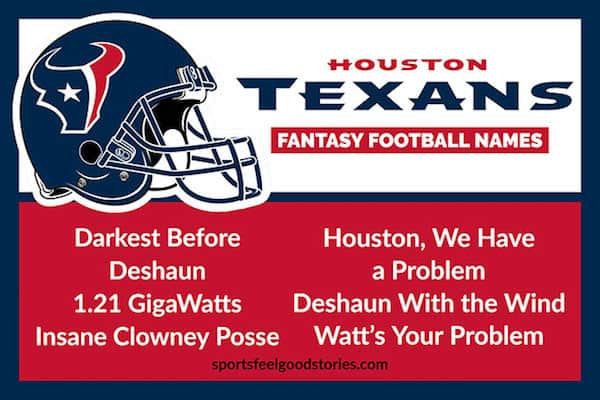Texans Fantasy football names image