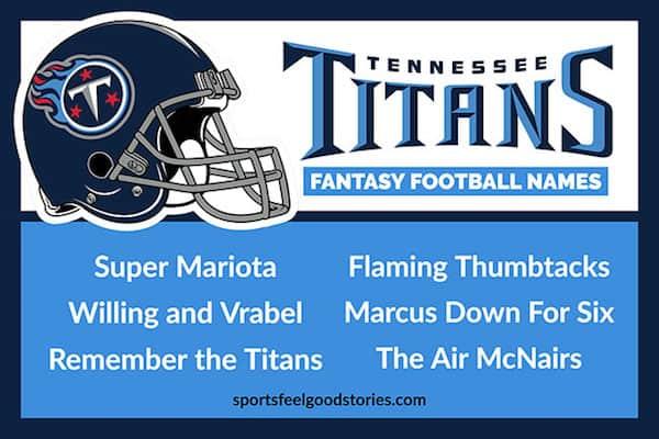 Titans Fantasy Football Names image