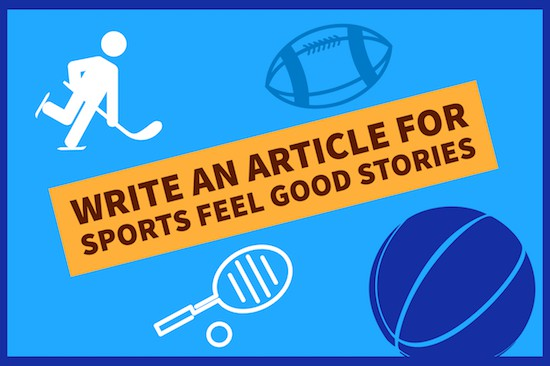 write an article for sports feel good stories image