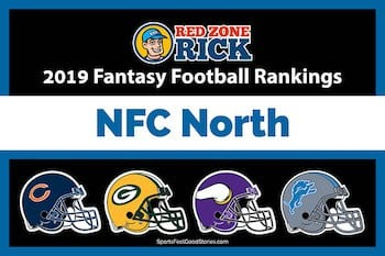 2019 NFC North Fantasy Football Rankings image