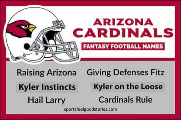 Arizona Cardinals Fantasy Football Team Names image