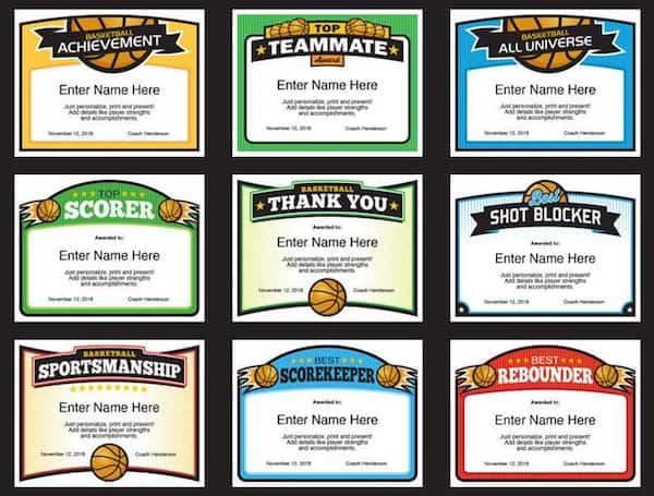 Elite B certificate designs image
