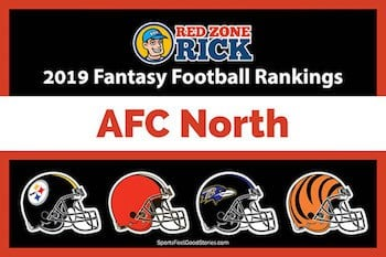fantasy football player rankings for AFC North image