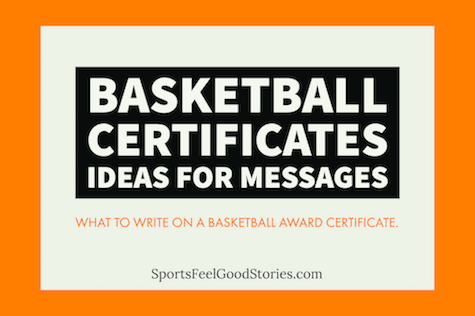 Youth Basketball Certificate Ideas Messages To Recognize Inspire