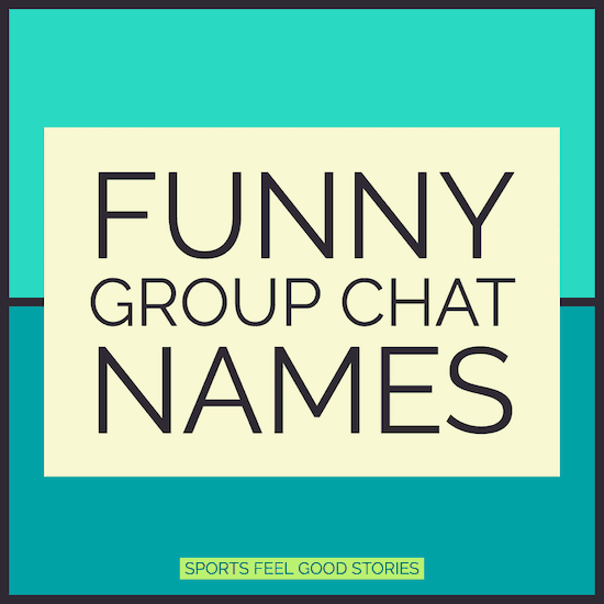 funny group chat names image