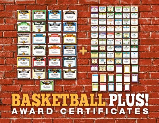 Basketball Certificates Plus Bundle image
