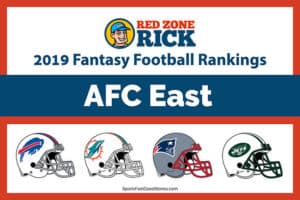 AFC East fantasy football players rankings image