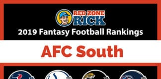 AFC South player rankings fantasy football image