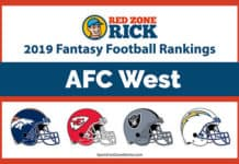 AFC West Fantasy Football Player Rankings image