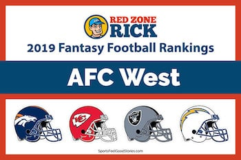 AFC West Player Rankings for Fantasy image
