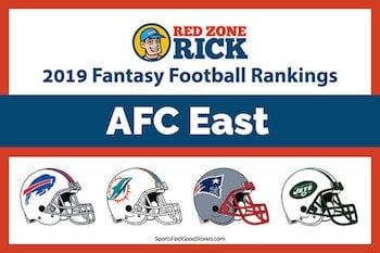 Fantasy football player rankings for AFC East image