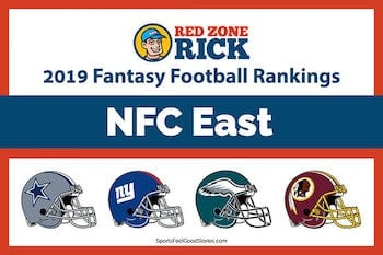 NFC East Fantasy football player rankings image