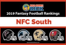 NFC South Fantasy football player rankings image
