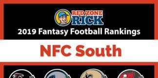 NFC South Fantasy football player rankings image