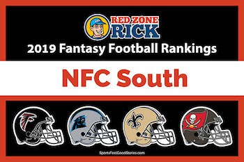 NFC South player rankings for fantasy image