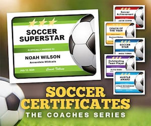 Coaches Series Soccer Certificates 300 image