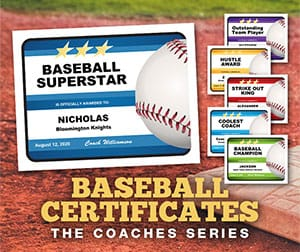 baseball certificates coaches series purchase button image