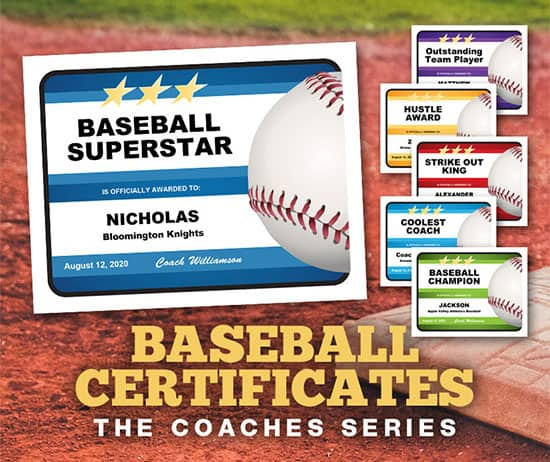 baseball certificates the coaches series image