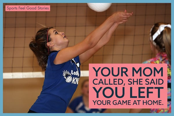 your mom called volleyball quote image