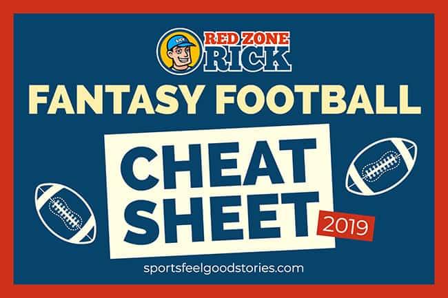 Fantasy Football Cheat Sheet 2019 PPR   Sports Feel Good Stories