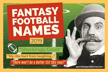 The big list of good fantasy football names button image