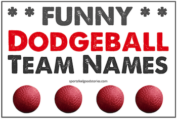 funny dodgeball team names button image