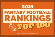 rankings for top 100 fantasy football players image