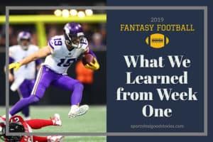 fantasy football week one analysis image