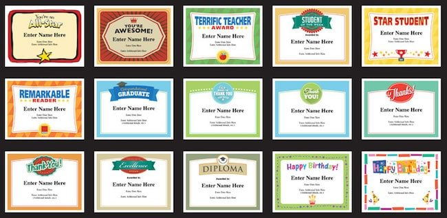 teacher certificates image