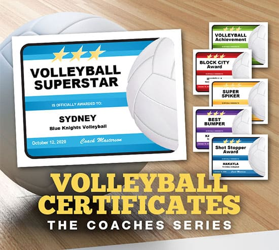 Volleyball Certificates - The Coaches Series image