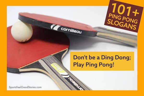 Ping pong slogans and sayings image
