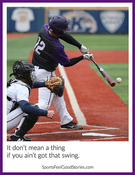 Instagram baseball caption image