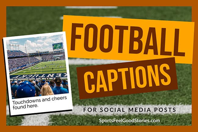 football captions image