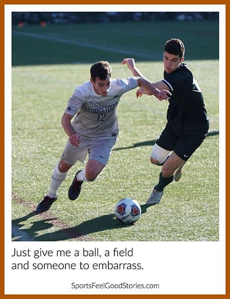 funny soccer saying image