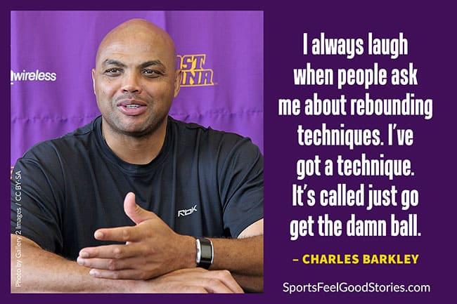 Charles Barkley motivating basketball quote image
