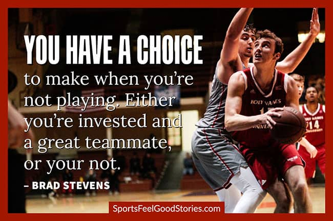 Brad Stevens motivational basketball quote image