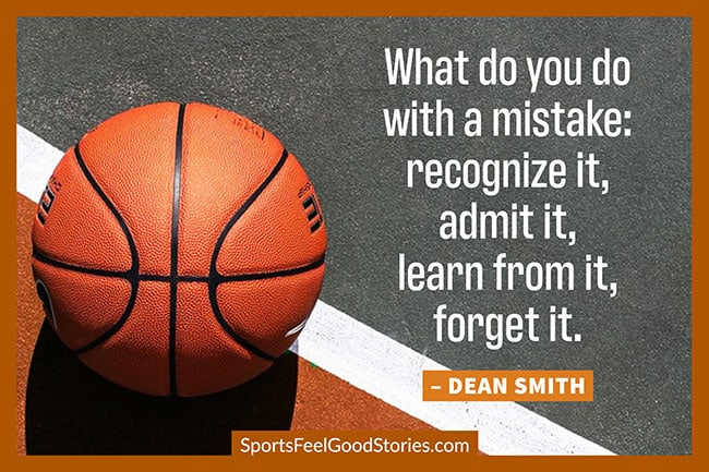 Dean Smith what to do with a mistake quote image
