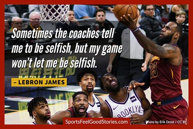 Lebron James Inspirational basketball quotes image