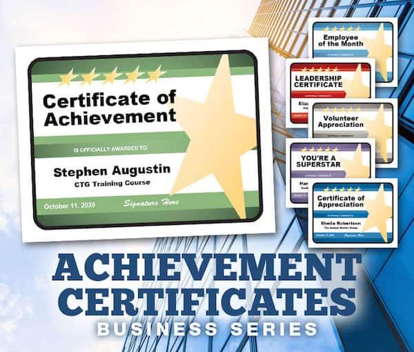 Achievement certificates editable image