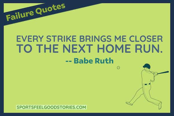 Babe Ruth quote on strikes image